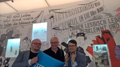 Mit Detlef Stoffel aus Bielefeld und Jens Burnicki, kulturpolitischer Sprecher der grünen LWL-Fraktion