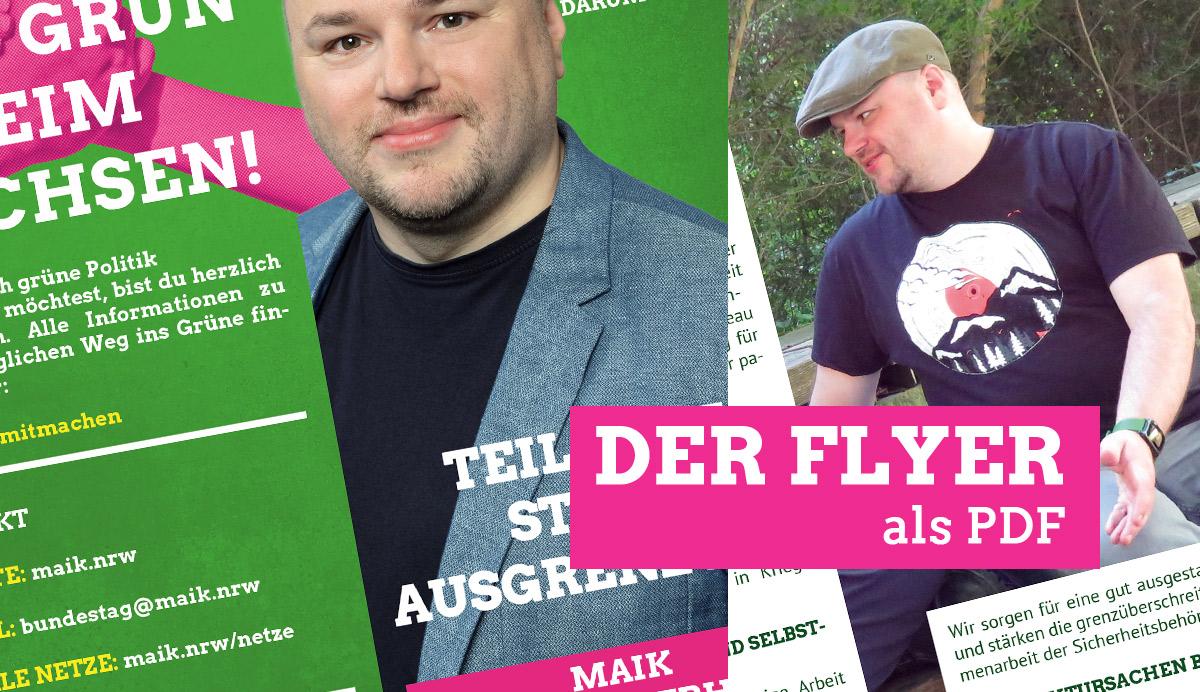 Der Flyer zur Bundestagswahl