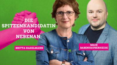 Britta Haßelmann und Maik Babenhauserheide
