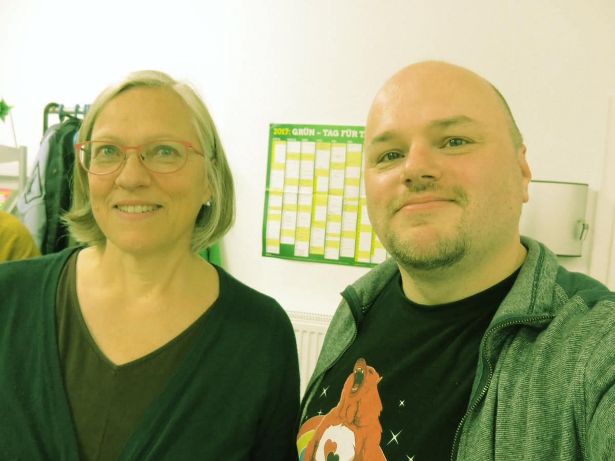 Angelika Fleischer und Maik Babenhauserheide